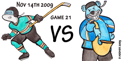 Sharks vs St. Louis' creepy ass bear mascot