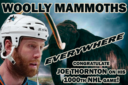 Congratulations Joe Thornton