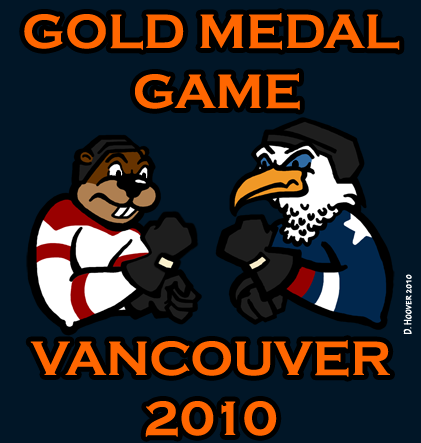 Team USA hockey vs Team Canada hockey- gold medal game